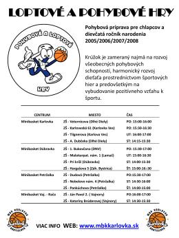 Info plagát centrá Pohybové a loptové hry 2014_2015