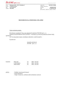 referencia podniku žs-emz - ŽS