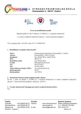 Výzva 01/2015 Propagačné materiály