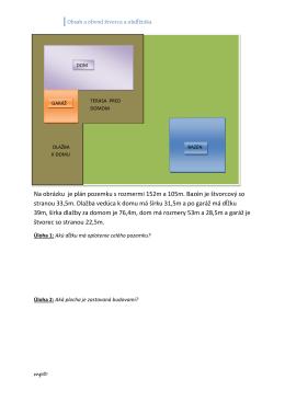 Obsah a obvod štvorca a obdĺžnika