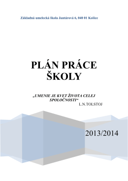 Základná umelecká škola Jantárová 6, 040 01 Košice