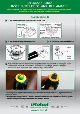 Inštrukcie pri reklamácii robota