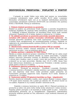 individuálna prestavba - poplatky a postup