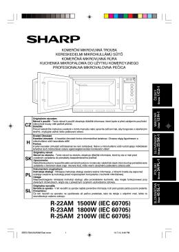 R-22AM 1500W (IEC 60705) R-23AM 1800W (IEC 60705)