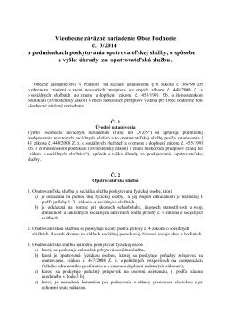 VZN 3/2014 - Obec Podhorie