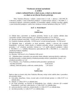 Všeobecné záväzné nariadenie - Obec Nedožery