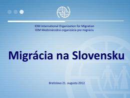 Migrácia na Slovensku