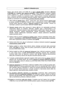 DAŇOVÝ PORIADOK 2012 Správu daní (bývalý zákon č.511/1992
