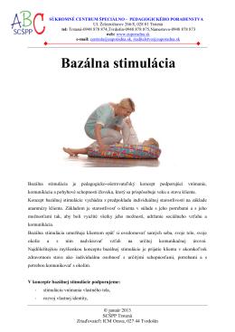 Bazálna stimulácia