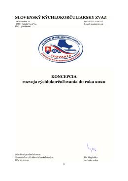 Koncepcia do roku 2020