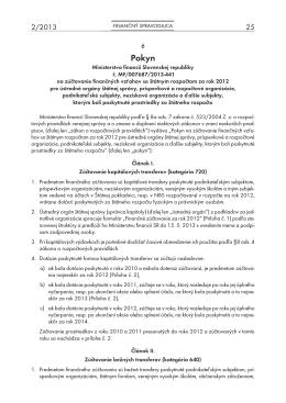 Finančný spravodajca 2/2013