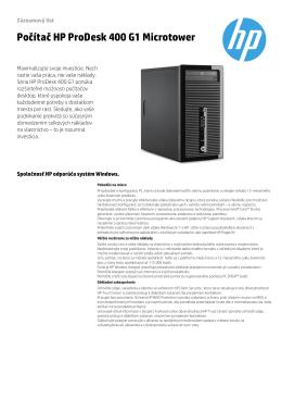 Počítač HP ProDesk 400 G1 Microtower