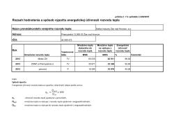 Rozsah hodnotenia a spôsob výpočtu energetickej účinnosti