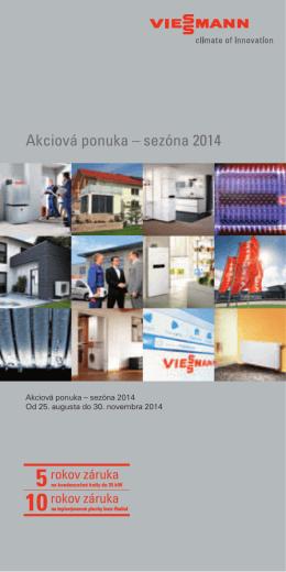 Akciová ponuka – sezóna 2014