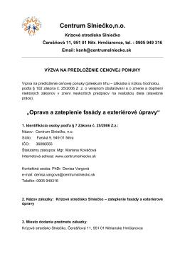Centrum Slniečko,n