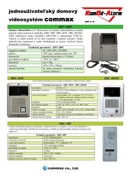 Videovratnik Commax - KomBit