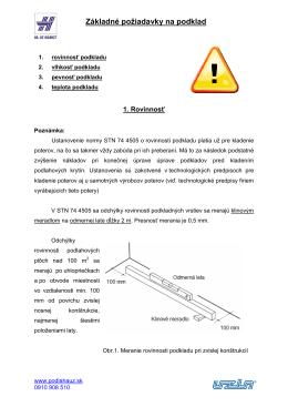 2. Základné požiadavky na podklad - podlaha podľa ha-uz