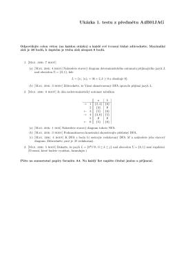 Ukázka 1. testu z predmetu A4B01JAG