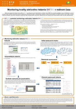 Monitoring kvality sieťového riešenia SKPOS v reálnom čase