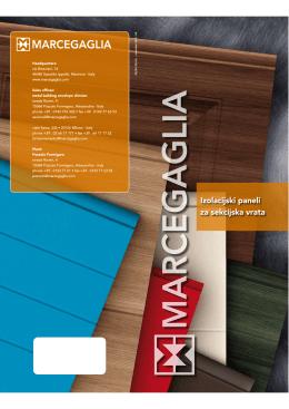 Izolační panely pro sekční vrata, Marcegaglia
