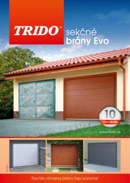 sekčné brány Evo - Garážová vrata Trido