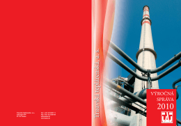 Výročná správa 2010 - TRNAVSKÁ TEPLÁRENSKÁ
