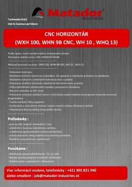 cnc horizontár (wxh 100, whn 9b cnc, wh 10 , whq 13)