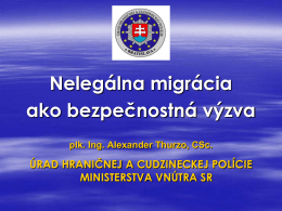 Faktory legálnej migrácie