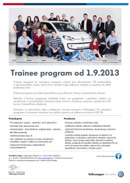 Trainee program od 1.9.2013