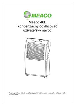 Bytový kondenzačný odvlhčovač MEACO 40L