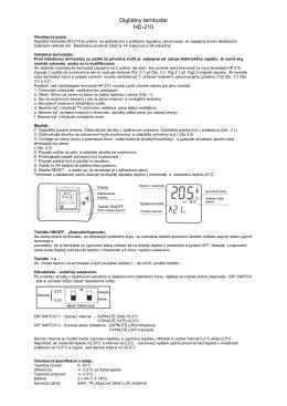 Digitálny termostat HD-210