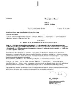 Odstávka 31.3.2015