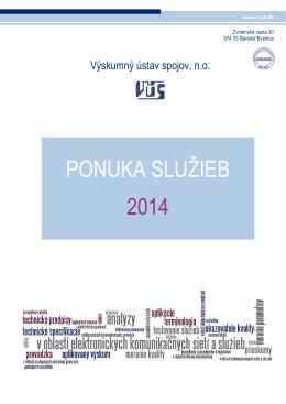 Ponuka služieb na rok 2015 - Výskumný ústav spojov, no