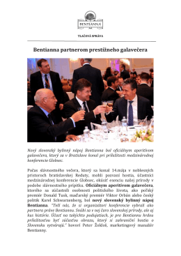 Tlačová správa - Bentianna.com
