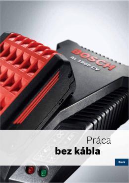 Práca bez kábla - Elektrické náradie Bosch