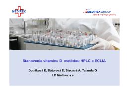 Stanovenie vitamínu D metódou HPLC a ECLIA