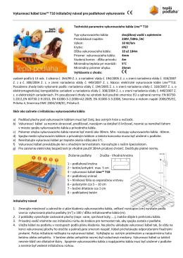 Vykurovací kábel Line™ T10 inštalačný návod pre podlahové