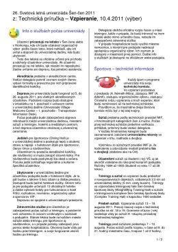 z: Technická príručka – Vzpieranie, 10.4.2011 (výber)