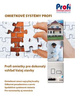 Katalóg omietkové systémy PROFI