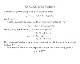7. Kvadratické formy