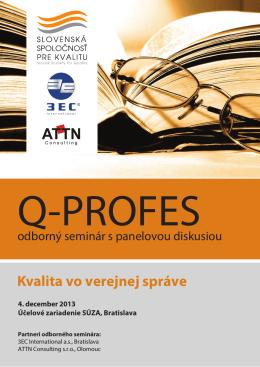 Q-Profes 2013 pozvanka - Slovenská spoločnosť pre kvalitu