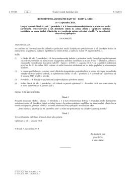 ROZHODNUTIE ASOCIAČNEJ RADY EÚ – EGYPT č. 1/2014 zo 4