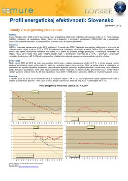 Profil energetickej efektívnosti: Slovensko - ODYSSEE-MURE
