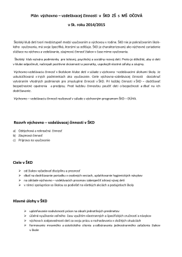 Dokument - Základná škola s MŠ