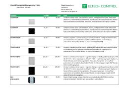 Cenník komponentov systému E-con