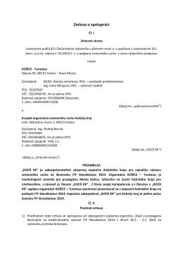 Zmluva o spolupráci_ITF Slovakiatour 2014