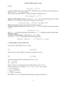 Diferenciálne rovnice