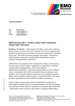 EMO Hannover 2011 – Svetový vedúci veľtrh obrábacích strojov