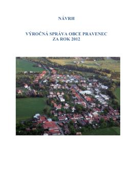 Výročná správa obce Pravenec za rok 2012