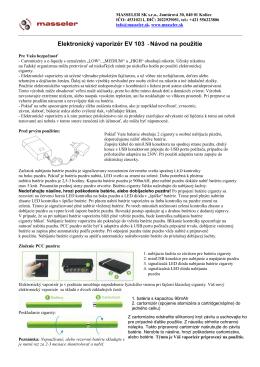 Elektronický vaporizér EV 103 - Návod na použitie